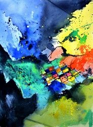 watercolor 1571, Paintings, Abstract, Decorative, Watercolor, By Pol Ledent