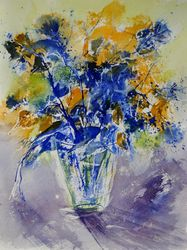 watercolor 412061, Paintings, Expressionism, Botanical, Watercolor, By Pol Ledent