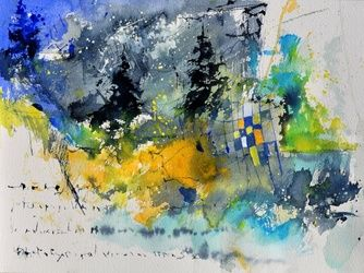 watercolor 414062, Paintings, Abstract, Decorative, Watercolor, By Pol Ledent