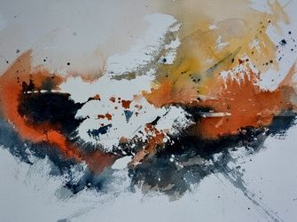 watercolor 471, Paintings, Abstract, Decorative, Watercolor, By Pol Ledent
