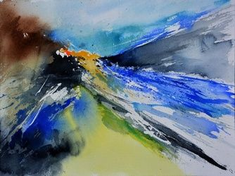 watercolor 512140, Paintings, Abstract, Decorative, Watercolor, By Pol Ledent