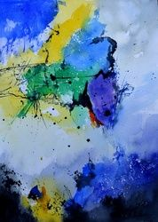 watercolor 512182, Paintings, Abstract, Decorative, Watercolor, By Pol Ledent