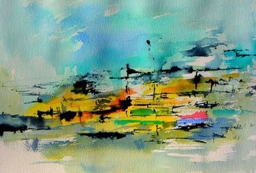 watercolor 514020, Paintings, Abstract, Decorative, Watercolor, By Pol Ledent