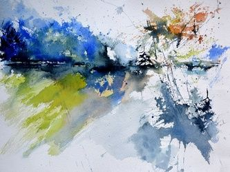 watercolor 519082, Paintings, Abstract, Decorative, Watercolor, By Pol Ledent