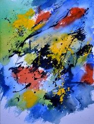 watercolor 612090, Paintings, Abstract, Decorative, Watercolor, By Pol Ledent
