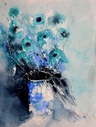 watercolor 612172, Paintings, Impressionism, Botanical, Watercolor, By Pol Ledent