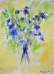 watercolor 615042, Paintings, Impressionism, Decorative,Floral, Watercolor, By Pol Ledent