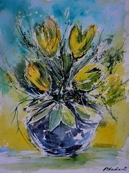 watercolor 711032, Paintings, Impressionism, Botanical, Watercolor, By Pol Ledent