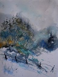watercolor 711081, Paintings, Impressionism, Landscape, Painting,Watercolor, By Pol Ledent