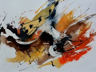 watercolor 7116, Paintings, Abstract, Decorative, Watercolor, By Pol Ledent