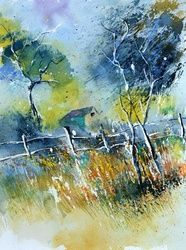 watercolor 716062, Paintings, Impressionism, Botanical, Painting, By Pol Ledent