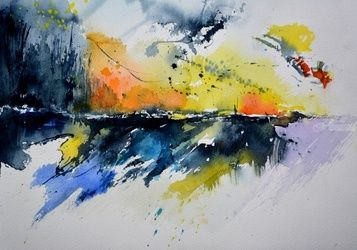 watercolor 771, Paintings, Abstract, Decorative, Watercolor, By Pol Ledent