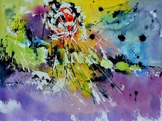 watercolor 8714, Paintings, Abstract, Decorative, Watercolor, By Pol Ledent