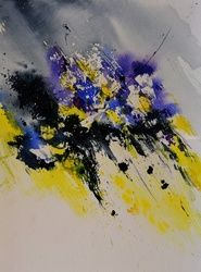 watercolor 8971, Paintings, Abstract, Decorative, Watercolor, By Pol Ledent