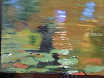 Waterlilies #4, Paintings, Impressionism, Botanical,Nature, Oil, By MD Meiser