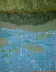 Waterlilles #5, Paintings, Impressionism, Landscape, Oil, By MD Meiser