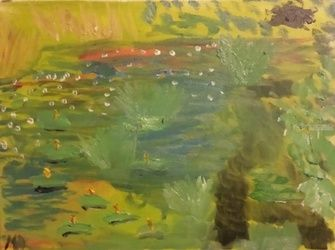 Waterlillies #9, Paintings, Impressionism, Landscape, Oil, By MD Meiser