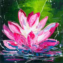 WATERLILY, Paintings, Impressionism, Floral, Canvas,Oil, By Liubov Kuptsova