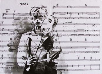 We can be heroes..., Graphic,Paintings, Fine Art,Pop Art, Figurative,People,Portrait, Ink, By Kateryna Bortsova
