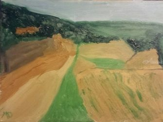 West Sand Valley #2, Paintings, Impressionism, Landscape, Oil, By MD Meiser