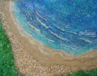 West Shore Beach, Paintings, Expressionism,Fine Art, Seascape, Mixed, By Robert Crawford