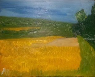 Wheatfield in Dunn Valley, PA, Paintings, Impressionism, Landscape, Oil, By MD Meiser