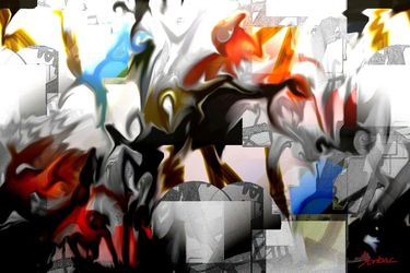 white, Digital Art / Computer Art, Abstract,Modernism, Animals, Digital, By Nebojsa Strbac