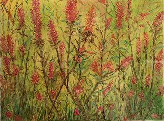 Wild Flowers, Paintings, Expressionism, Landscape, Oil, By victoria osley