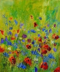 wild flowers 567170, Paintings, Impressionism, Nature, Canvas, By Pol Ledent