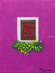 Window, Venice, Paintings, Expressionism, Architecture, Canvas,Oil, By Ivan Klymenko