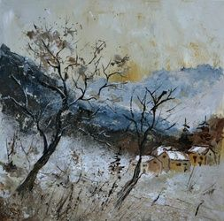 winter 556121, Paintings, Expressionism, Landscape, Canvas, By Pol Ledent