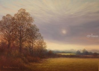 Winter Field Kilcavan, Paintings, Fine Art, Landscape, Oil, By Sean Conlon