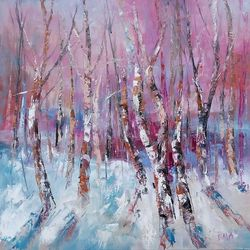 WINTER MAGIC #1, Paintings, Expressionism, Land Art,Landscape,Nature, Oil, By Emilia Milcheva