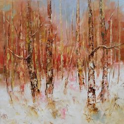 Winter magic Nr 3, Paintings, Expressionism,Fine Art,Impressionism,Modernism, Land Art,Landscape,Nature, Oil, By Emilia Milcheva