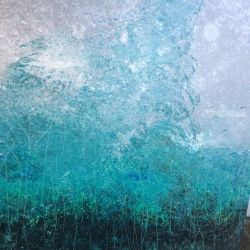 Winter Storm, Paintings, Abstract, Landscape, Acrylic,Canvas, By Kenneth Parker