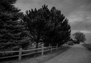 Wyoming Country Road In Black<br>And White, Architecture, Fine Art, Landscape, Photography: Photographic Print, By Jim Stewart