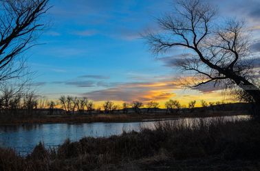 Wyoming Evening Sunset 1, Architecture, Fine Art, Landscape, Photography: Photographic Print, By Jim Stewart