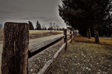 Wyoming Wooden Fence Line 1, Digital Art / Computer Art, Fine Art, Landscape, Photography: Photographic Print, By Jim Stewart