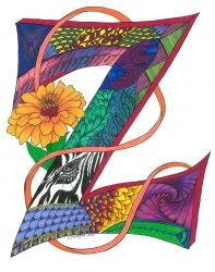 Zesty Z, Decorative Arts, Pop Art, Decorative, Ink, By C Jeanine Noegel