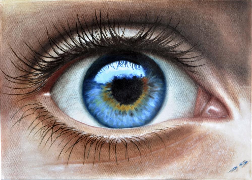 Eye 3d In Color Drawings Sketch By Stefan Pabst Artist Com