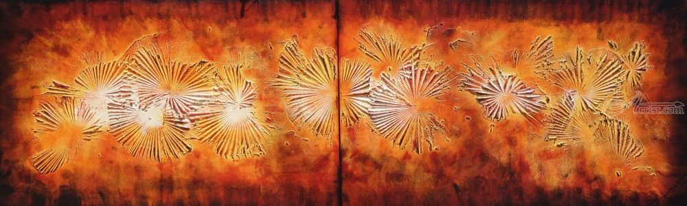 fire lava a105 textured abstract painting vertical wall art acrylic