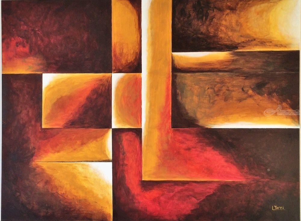 Geometric abstract art Paintings by Lucyanne Terni ...