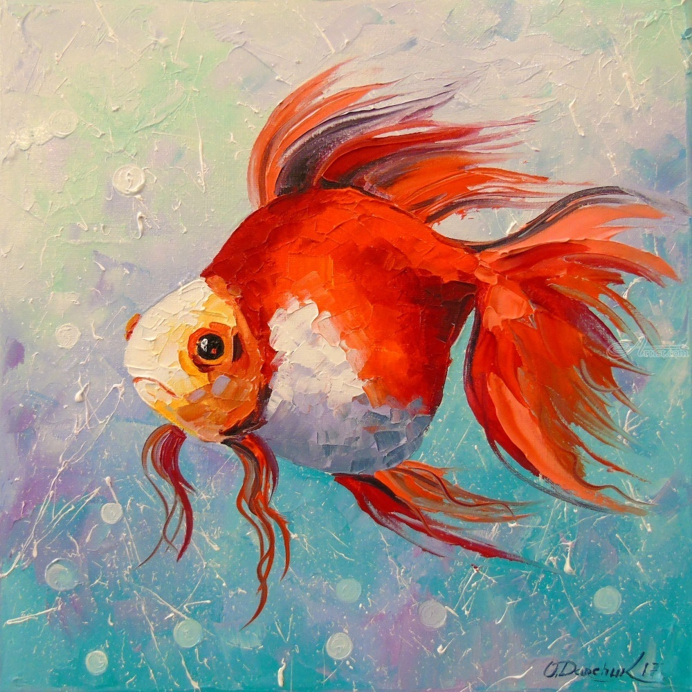 Gold fish Paintings by Olha Darchuk - Artist.com