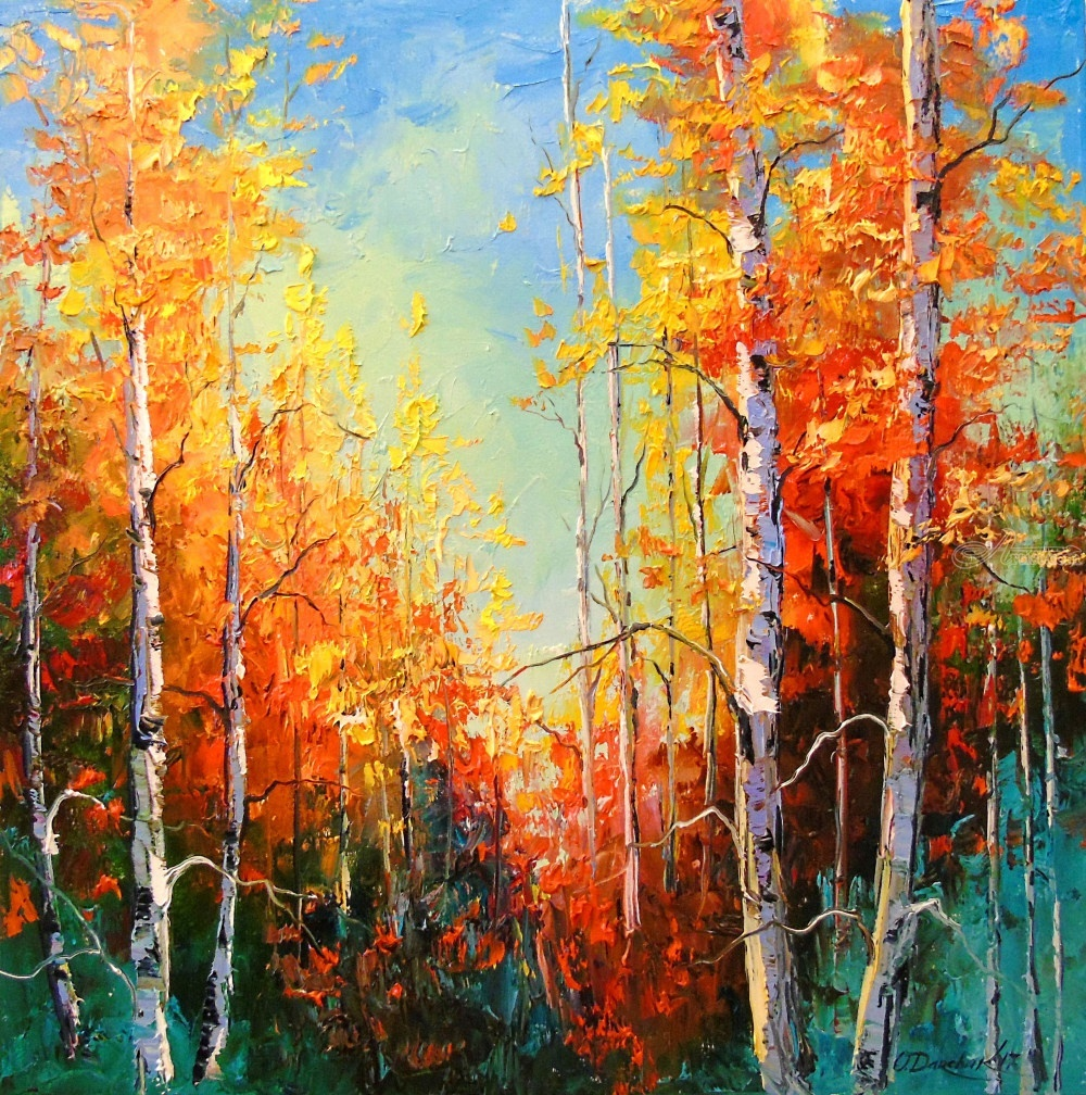 Paintings By Olha Darchuk Impressionism Botanical