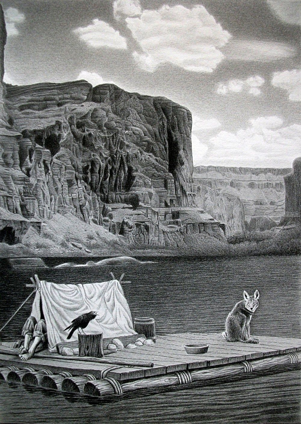 IN THE GRAND CANYON Drawings / Sketch, Illustration by ...