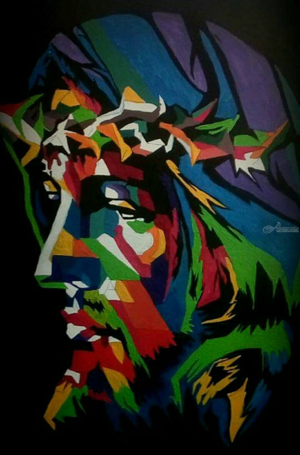 Jesus Christ Abstract Painting Paintings By Amal Augustine Artist Com