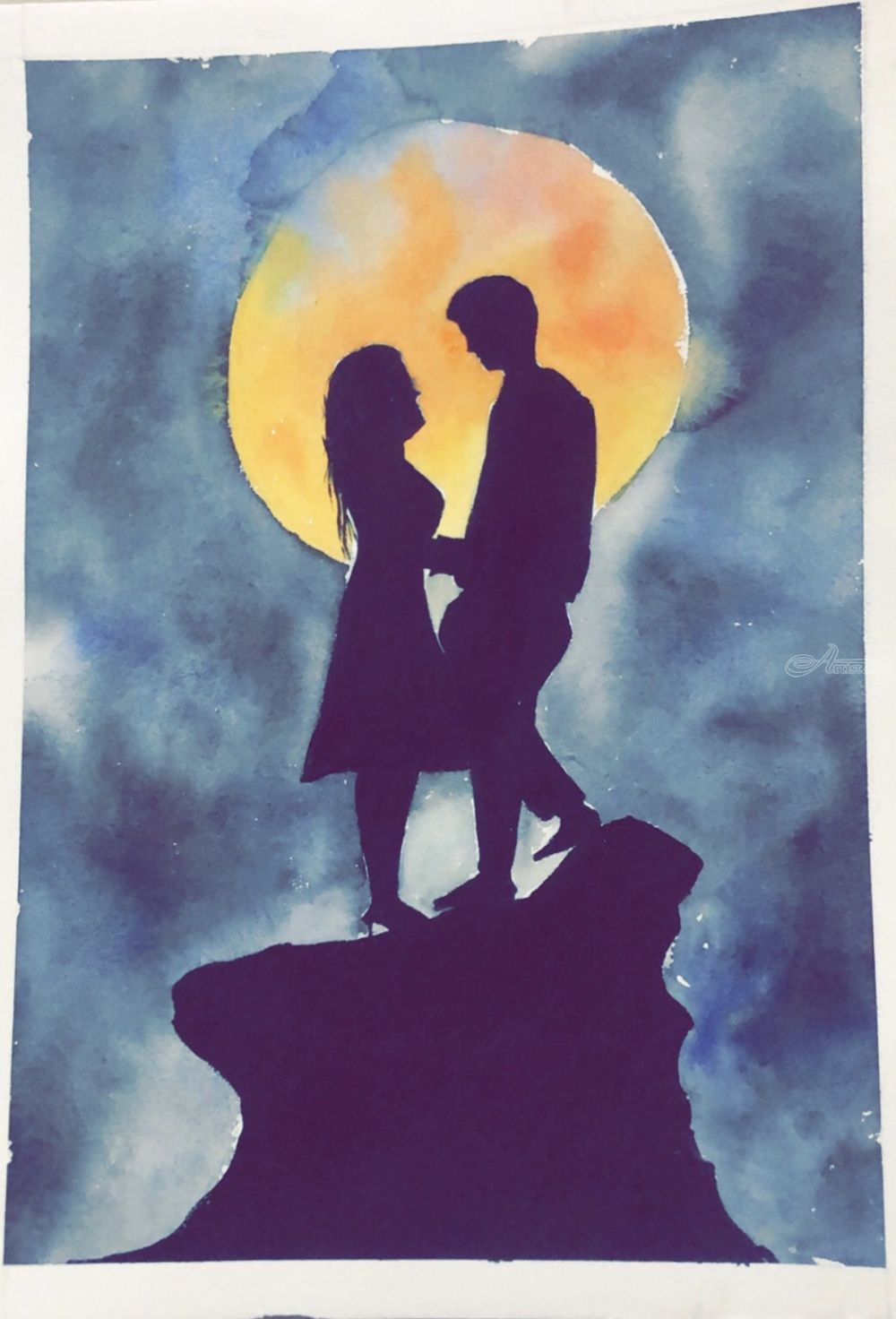love couple Paintings by kumar praful - Artist.com