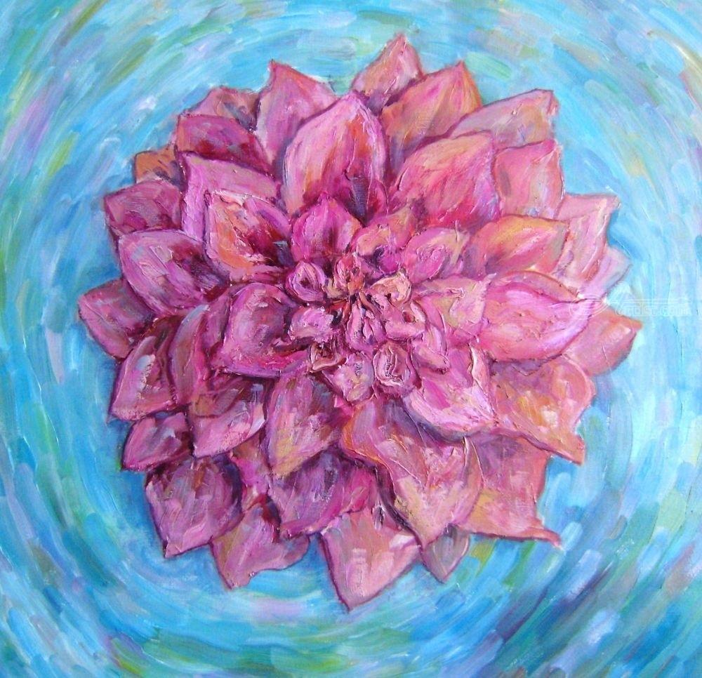 Oh the treasure in lotus flower paintings by sana verba artist zoom izmirmasajfo