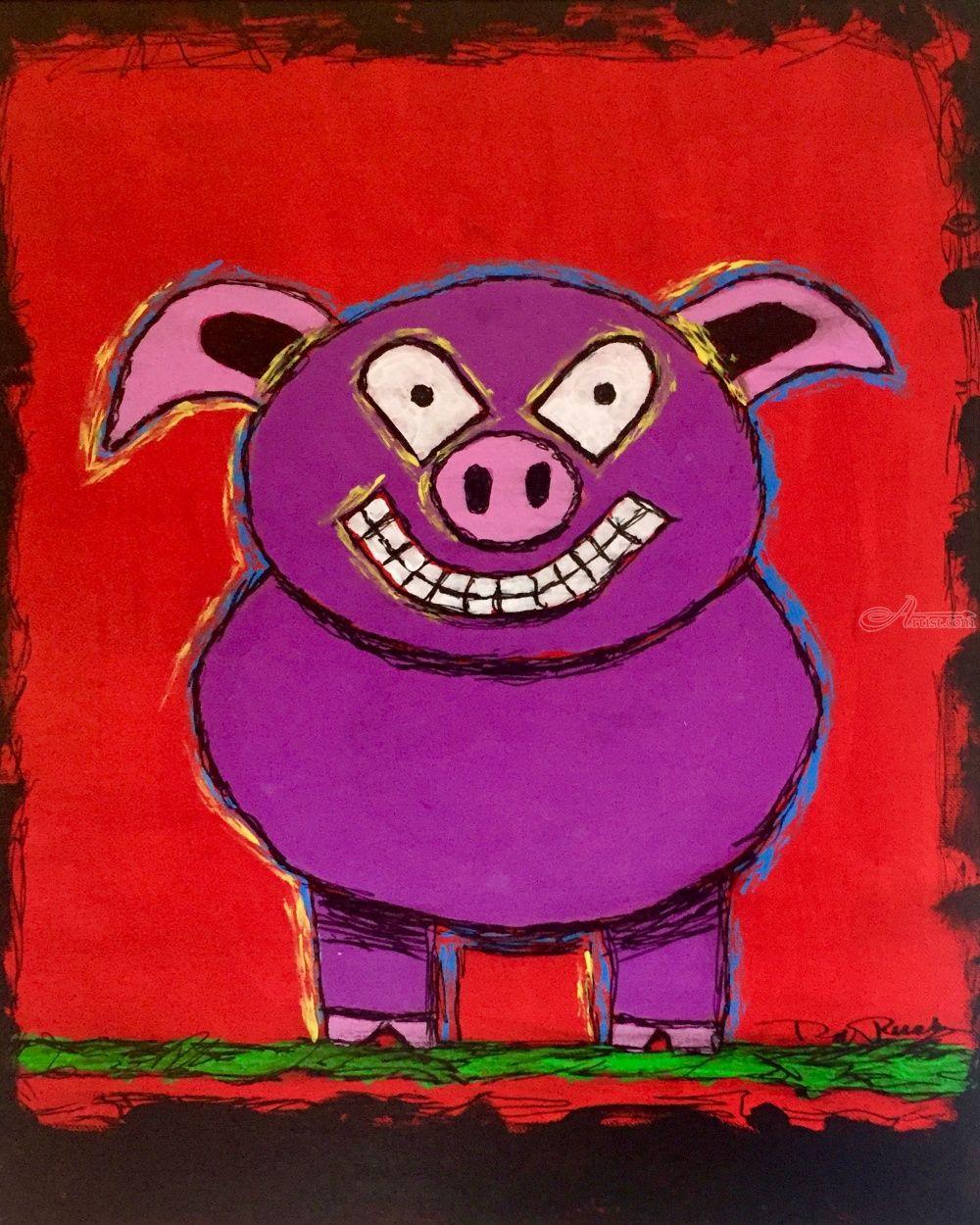 Purple Pig Paintings By Rick Ruark Artist Com