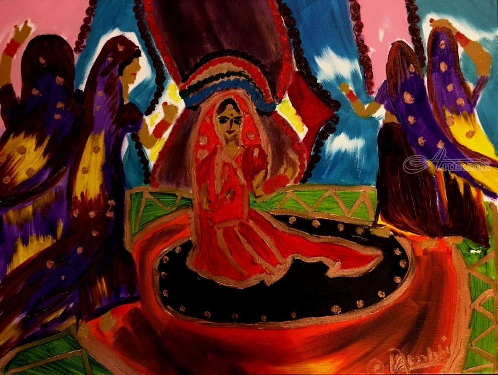 The great Indian court dance Paintings by Surbhi Bhatnagar